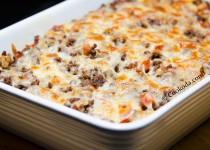 خوراک گوشت با نان تست | Beef & Bread Bake