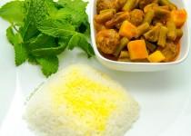 خوراک کوفته ریزه با سبزیجات   Meatball Stew