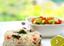برنج و قارچ   Mushroom Rice