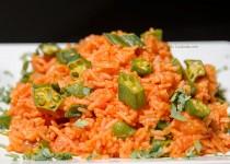 خوراک بامیه هندی   Indian Okra Rice