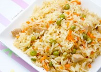 خوراک برنج سرخ شده   Chicken Carrot Fried Rice