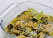 خوراک مرغ و اسفناج   Chicken Spinach Stew