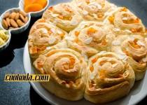نان قیسی و بادام | Apricot & Almond Buns