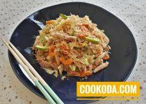 خوراک کلم پیچ   Cabbage Stir Fry