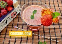 اسموتی پرتقال و توت فرنگی   Orange Strawberry Smoothie