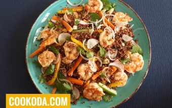 سالاد کینوآ با میگو | Quinoa Salad With Shrimp