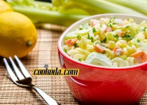 سالاد پاستا و سبزیجات   Veggie Pasta Salad