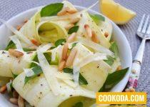 سالاد کدو و پارمزان | Zucchini Salad With Parmesan