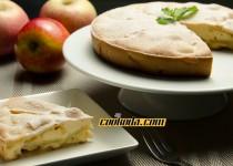 کیک سیب بدون روغن   Apple Sharlotka