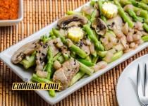 سالاد قارچ و مارچوبه | Asparagus & Mushroom Salad