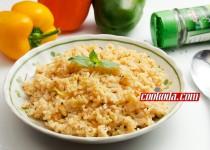 کدو پلو با پنیر خامه ای | Cheesy Zucchini Rice