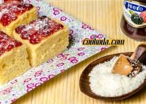 کیک نارگیلی با مربا | Jam & Coconut Cake