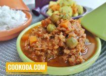 خورشت نخودفرنگی  لبنانی با سویا   Lebanese Pea Stew