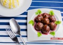 گوشت قلقلی با سس انار   Meatballs in pomegranate sauce