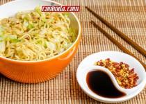 خوراک نودل با کلم برگ| Noodles with White Cabbage