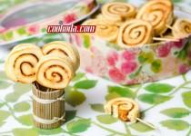 شیرینی فرفرهای   Pinwheel Cookies
