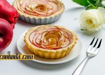تارت سیب با طرح رز | Rose Apple Tart