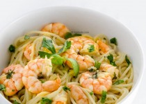 اسپاگتی با میگو   Shrimps and Spaghetti