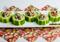 سالاد لقمه   Stuffed Cucumbers