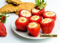 دسر توت فرنگی | Stuffed Strawberries